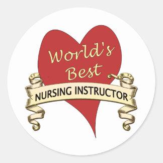 El mejor instructor del oficio de enfermera del pegatina redonda