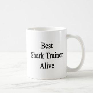 El mejor instructor del tiburón vivo taza