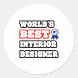 El mejor interiorista del mundo etiqueta redonda