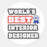 El mejor interiorista del mundo pegatina redonda