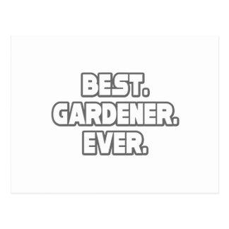 El mejor jardinero nunca tarjetas postales