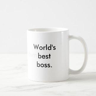 El mejor jefe del mundo (dum) taza básica blanca