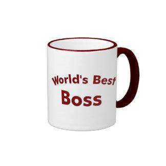 El mejor jefe del mundo taza de dos colores