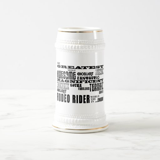 El mejor jinete de rodeo más grande de los jinetes jarra de cerveza
