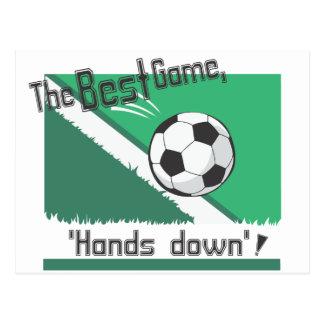 """El mejor juego """"manos abajo """" postal"""