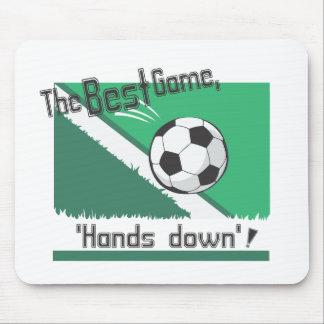 """El mejor juego """"manos abajo """" alfombrilla de ratón"""