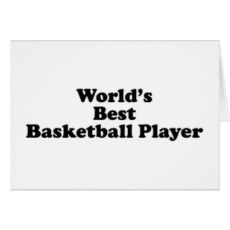 El mejor jugador de básquet del mundo tarjeta de felicitación