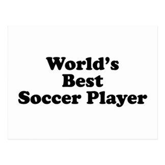 El mejor jugador de fútbol del mundo postal