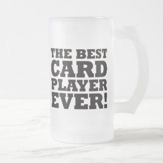 El mejor jugador de tarjeta nunca taza de cristal