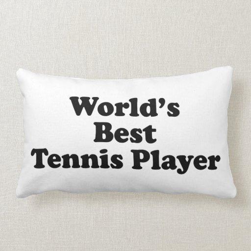 El mejor jugador de tenis del mundo almohada