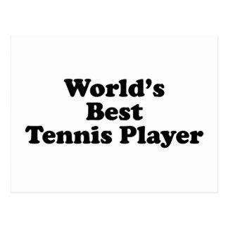 El mejor jugador de tenis del mundo tarjetas postales