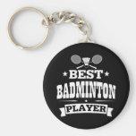 El mejor jugador del bádminton llavero personalizado