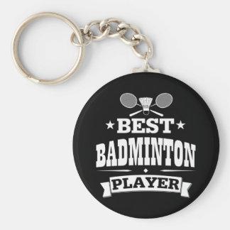 El mejor jugador del bádminton llavero redondo tipo pin