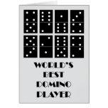 El mejor jugador del dominó del mundo tarjeta de felicitación