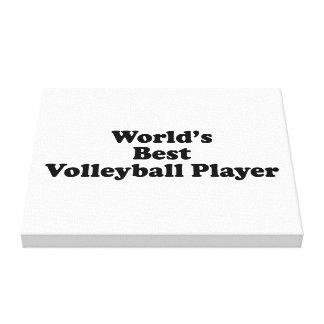 El mejor jugador del voleibol del mundo impresión en lienzo