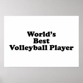 El mejor jugador del voleibol del mundo póster