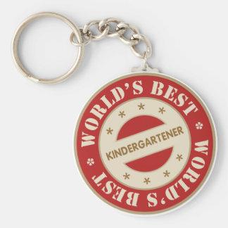 El mejor Kindergartener de los mundos Llaveros Personalizados