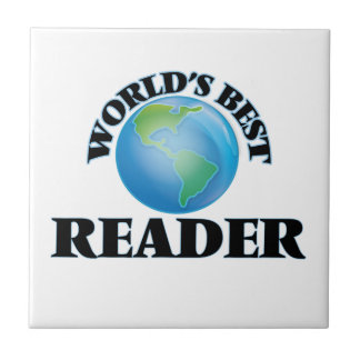El mejor lector del mundo azulejos cerámicos