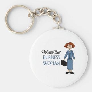 El mejor llavero de la mujer de negocios de los mu