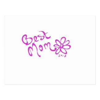 El mejor logotipo de la margarita de la mamá tarjetas postales