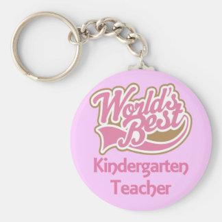El mejor maestro de jardín de infancia de los mund llavero personalizado