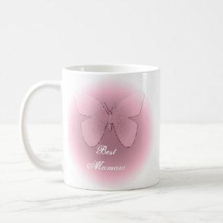 El mejor mamaw, mariposa rosada taza