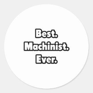 El mejor. Maquinista. Nunca Etiquetas Redondas
