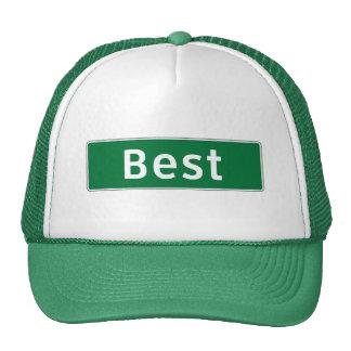 El mejor, marcador del camino, Tejas, los E.E.U.U. Gorras