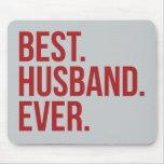 El mejor marido nunca alfombrilla de ratón