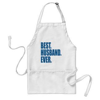 El mejor. Marido. Nunca. (azul) Delantal