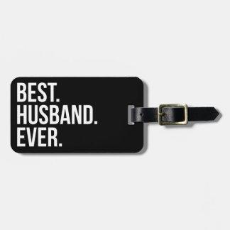 El mejor marido nunca etiqueta para maleta