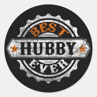 El mejor marido nunca pegatina redonda