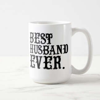 El mejor marido nunca taza básica blanca