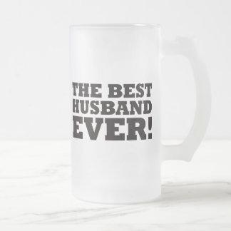 El mejor marido nunca taza de cristal