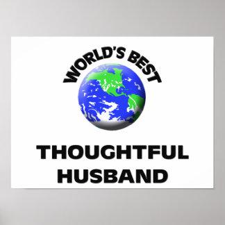 El mejor marido pensativo del mundo póster