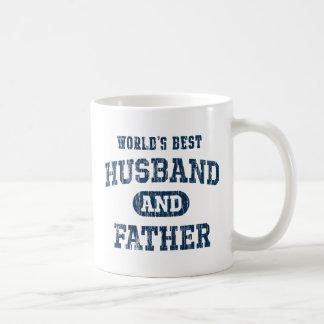El mejor marido y el padre del mundo taza básica blanca