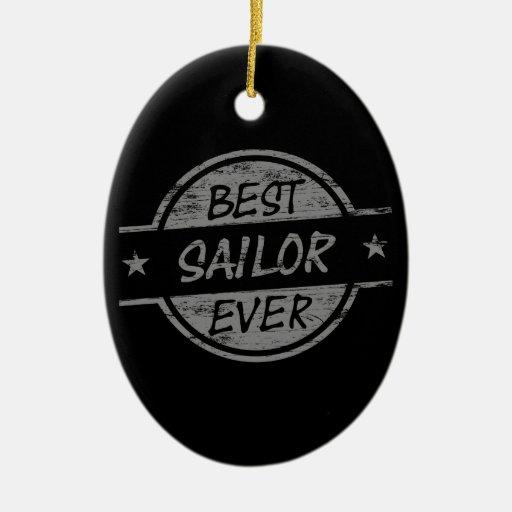 El mejor marinero siempre gris ornamentos para reyes magos