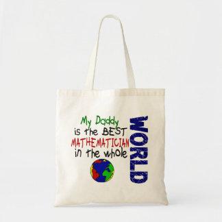 El mejor matemático en el mundo 2 (papá) bolsa tela barata