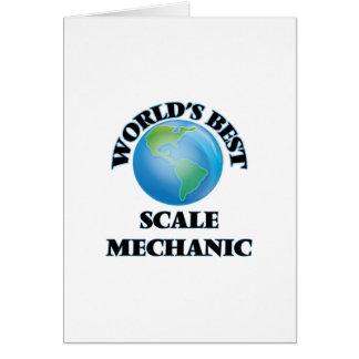 El mejor mecánico de la escala del mundo felicitación