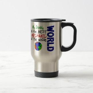 El mejor mecánico en el mundo 2 papá tazas de café