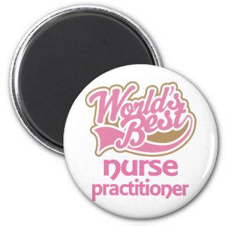 El mejor médico de la enfermera de los mundos rosa imán para frigorifico