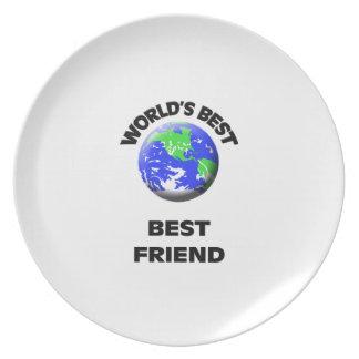 El mejor mejor amigo del mundo plato para fiesta