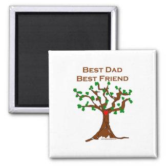 El mejor mejor amigo del papá imán cuadrado