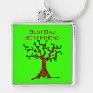 El mejor mejor amigo del papá llaveros personalizados
