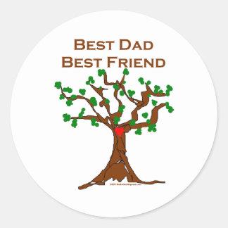 El mejor mejor amigo del papá pegatina redonda