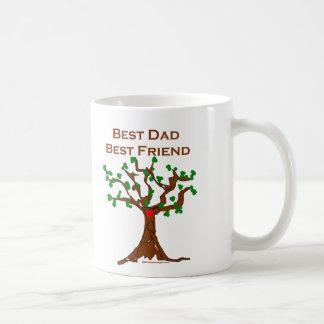 El mejor mejor amigo del papá taza básica blanca