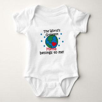 El mejor Mema pertenece a mí Body Para Bebé