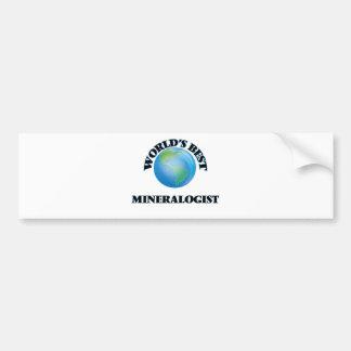 El mejor mineralogista del mundo pegatina de parachoque