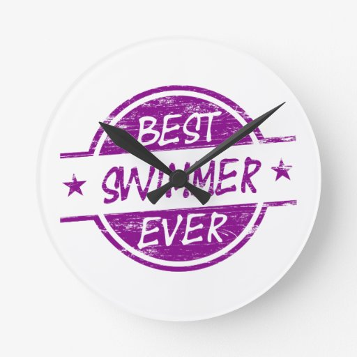 El mejor nadador siempre púrpura reloj