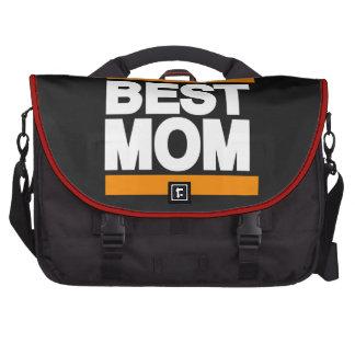 El mejor naranja de la mamá bolsas de ordenador
